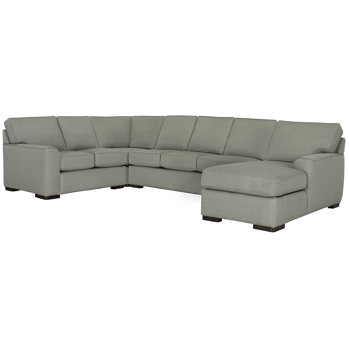 Austin Green Fabric Right Chaise Innerspring Sleeper Sectional