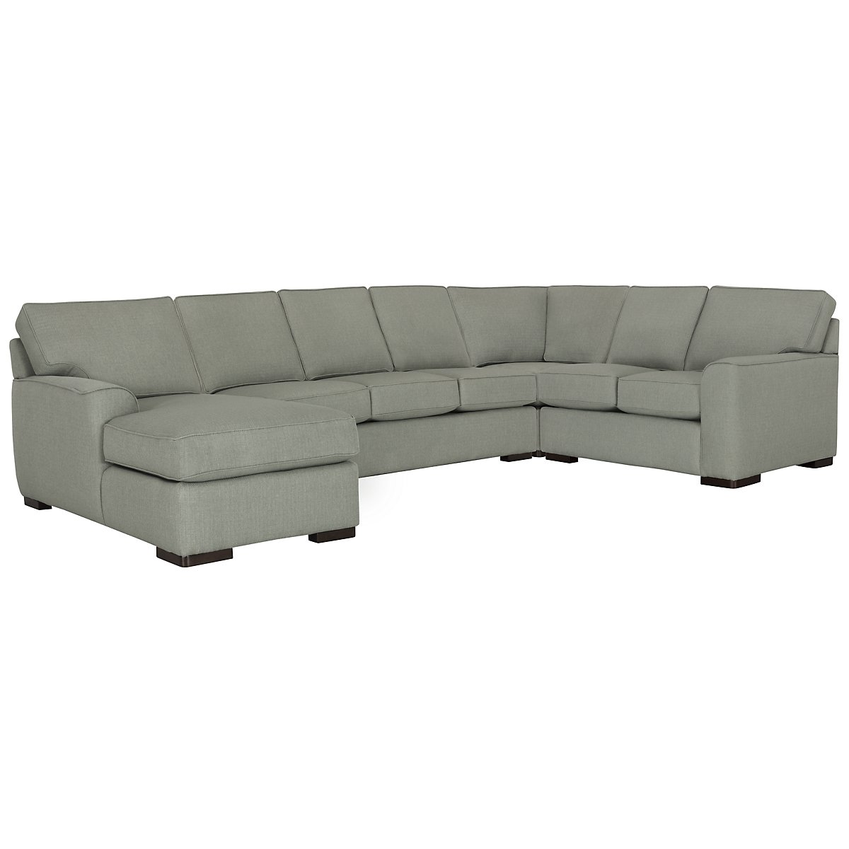 Austin Green Fabric Left Chaise Innerspring Sleeper Sectional