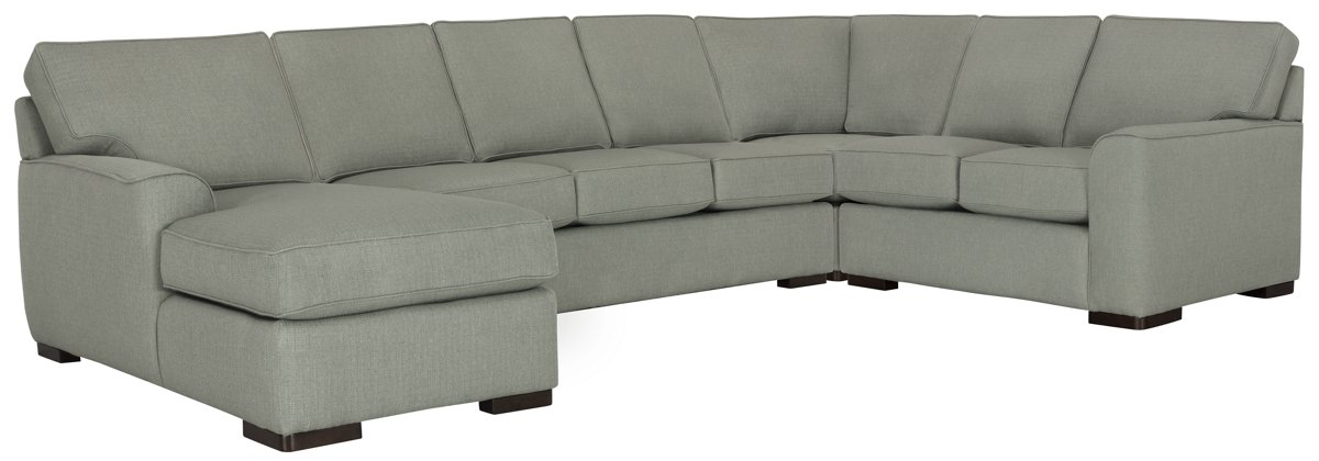 Austin Green Fabric Left Chaise Memory Foam Sleeper Sectional