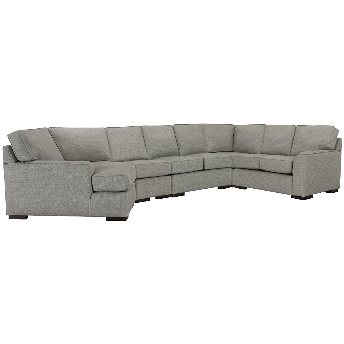 Austin Gray Fabric Large Left Cuddler Sectional