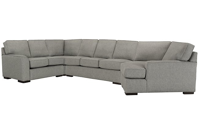 Austin Gray Fabric Right Cuddler Innerspring Sleeper Sectional