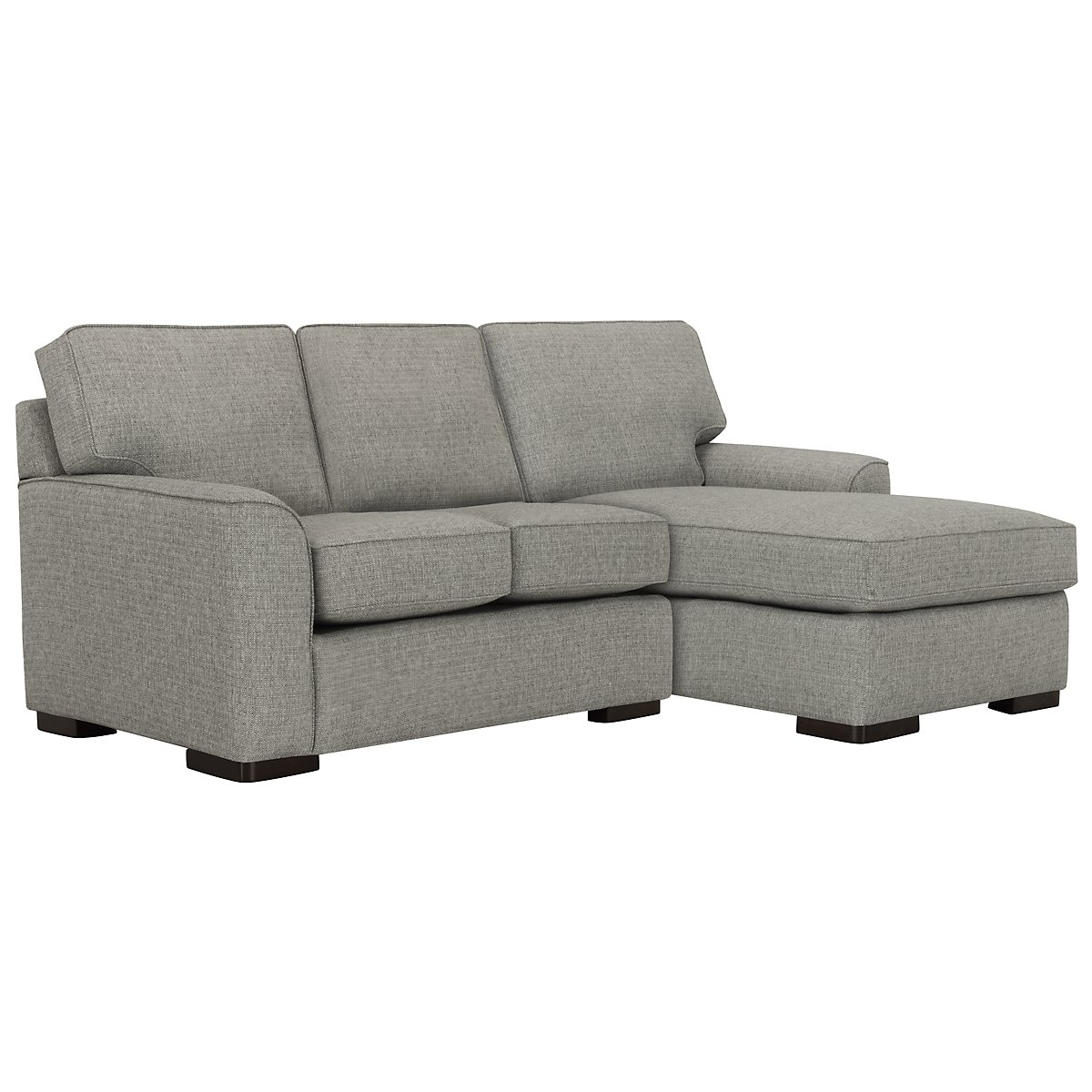 Austin Gray Fabric Right Chaise Sectional