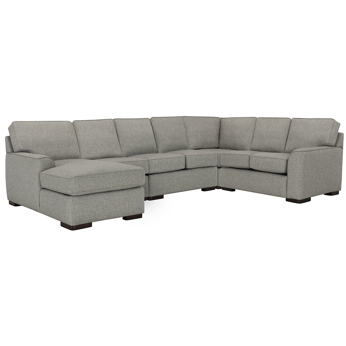 Austin Gray Fabric Large Left Chaise Sectional