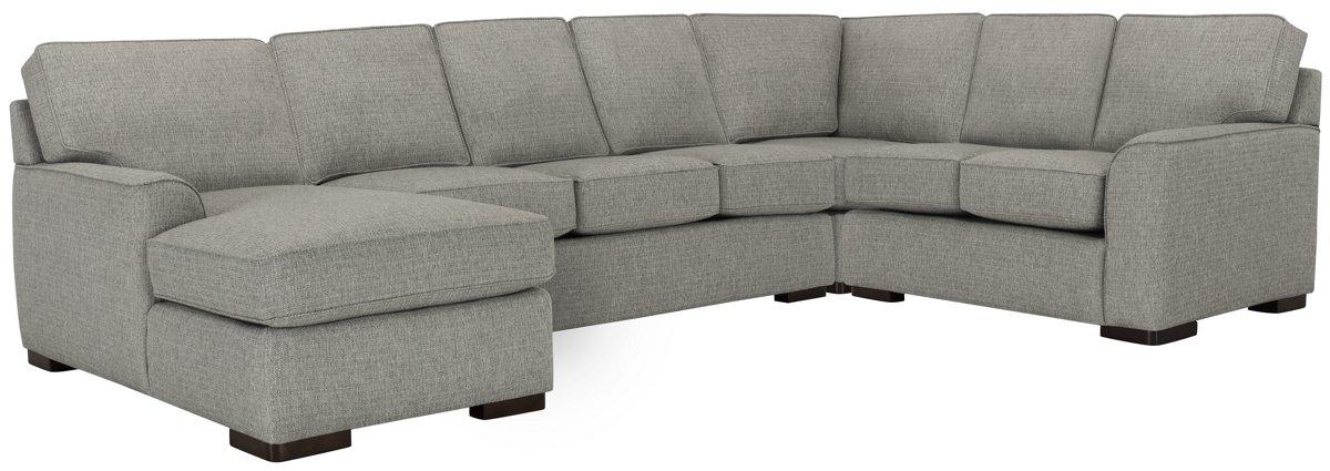 Austin Gray Fabric Left Chaise Innerspring Sleeper Sectional