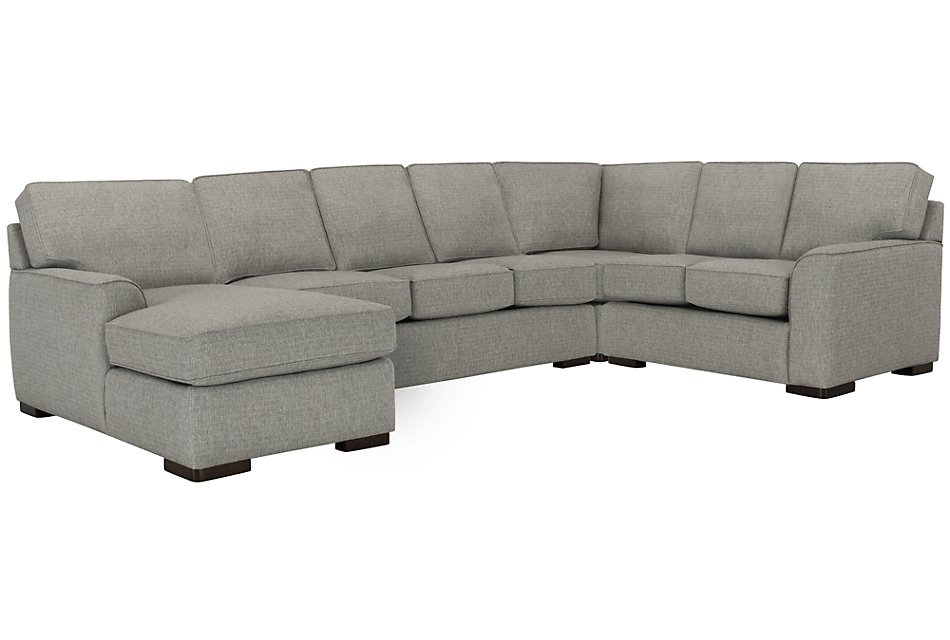Outstanding Austin Gray Fabric Left Chaise Memory Foam Sleeper Sectional Pdpeps Interior Chair Design Pdpepsorg