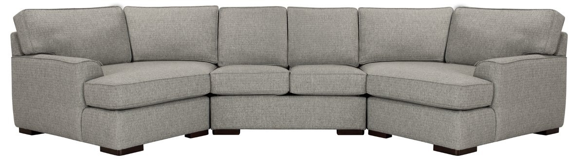 City Furniture Austin Gray Fabric Dual Cuddler Sectional
