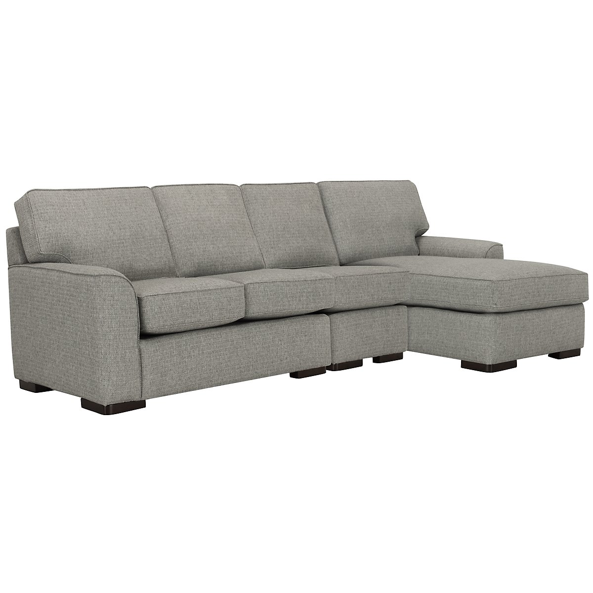 Austin Gray Fabric Small Right Chaise Sectional