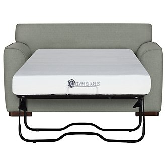 Austin Green Fabric Memory Foam Sleeper