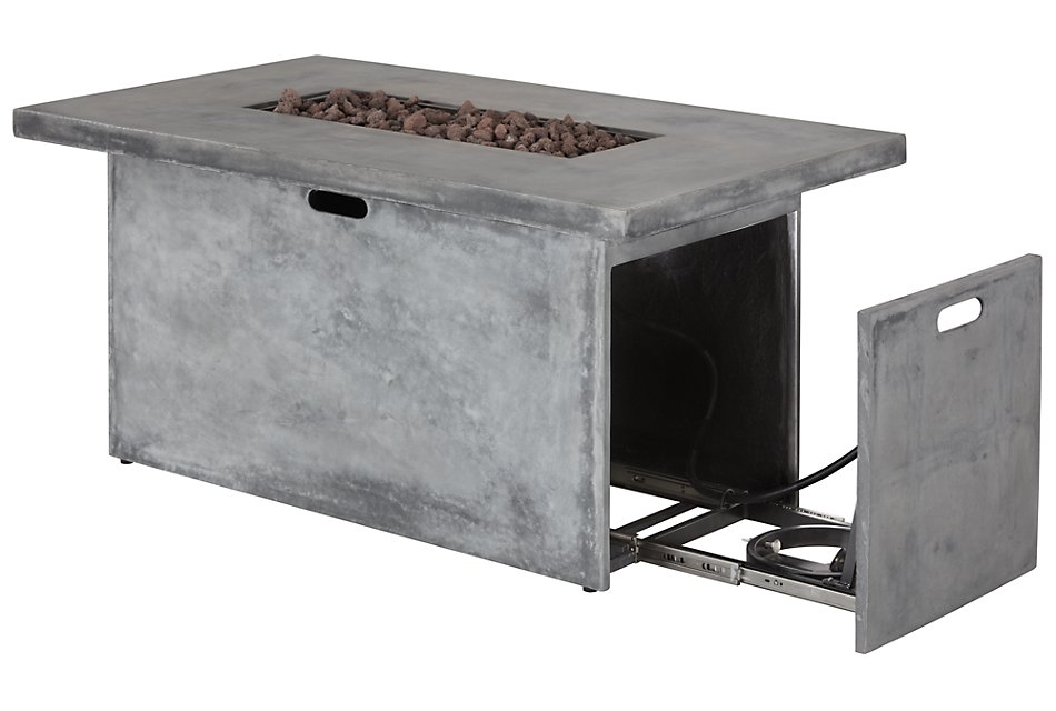 Canyon Gray Rect Fire Pit
