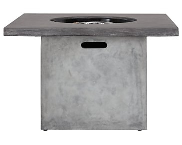 Canyon Gray Square Fire Pit