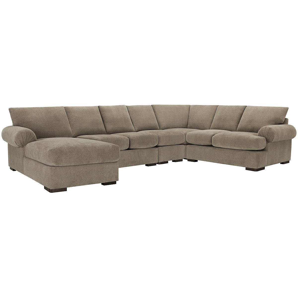 Belair Dark Taupe Fabric Large Left Chaise Sectional