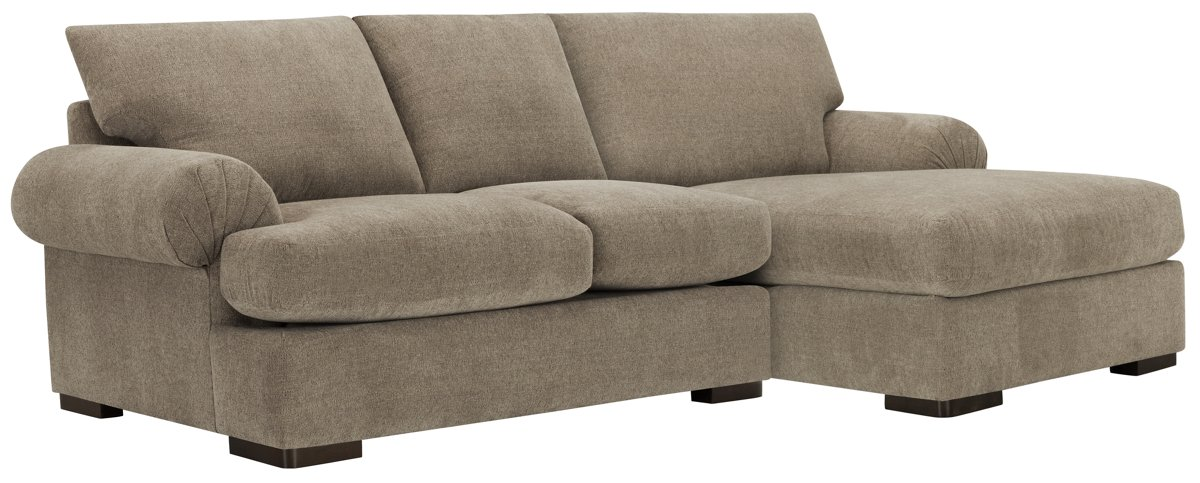 Belair Dark Taupe Fabric Right Chaise Sectional