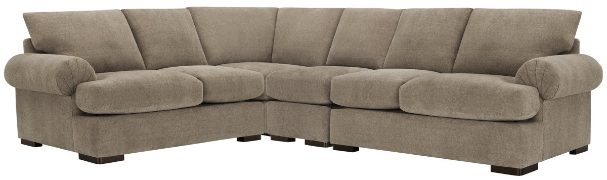 Belair Dark Taupe Fabric Large Two-Arm Sectional