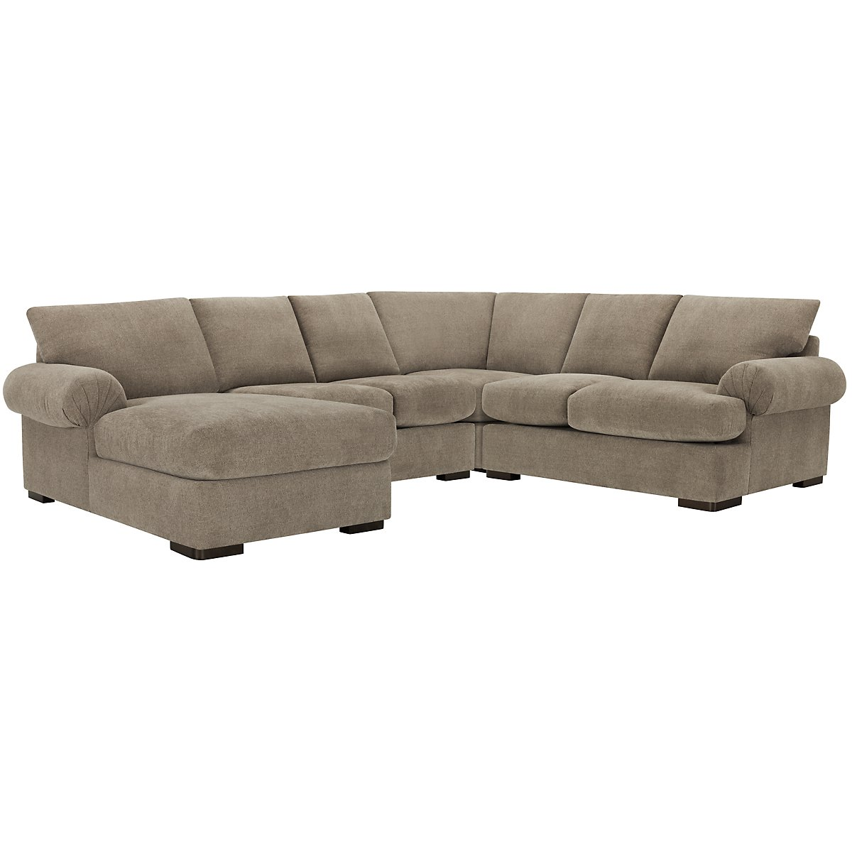 Belair Dark Taupe Fabric Medium Left Chaise Sectional
