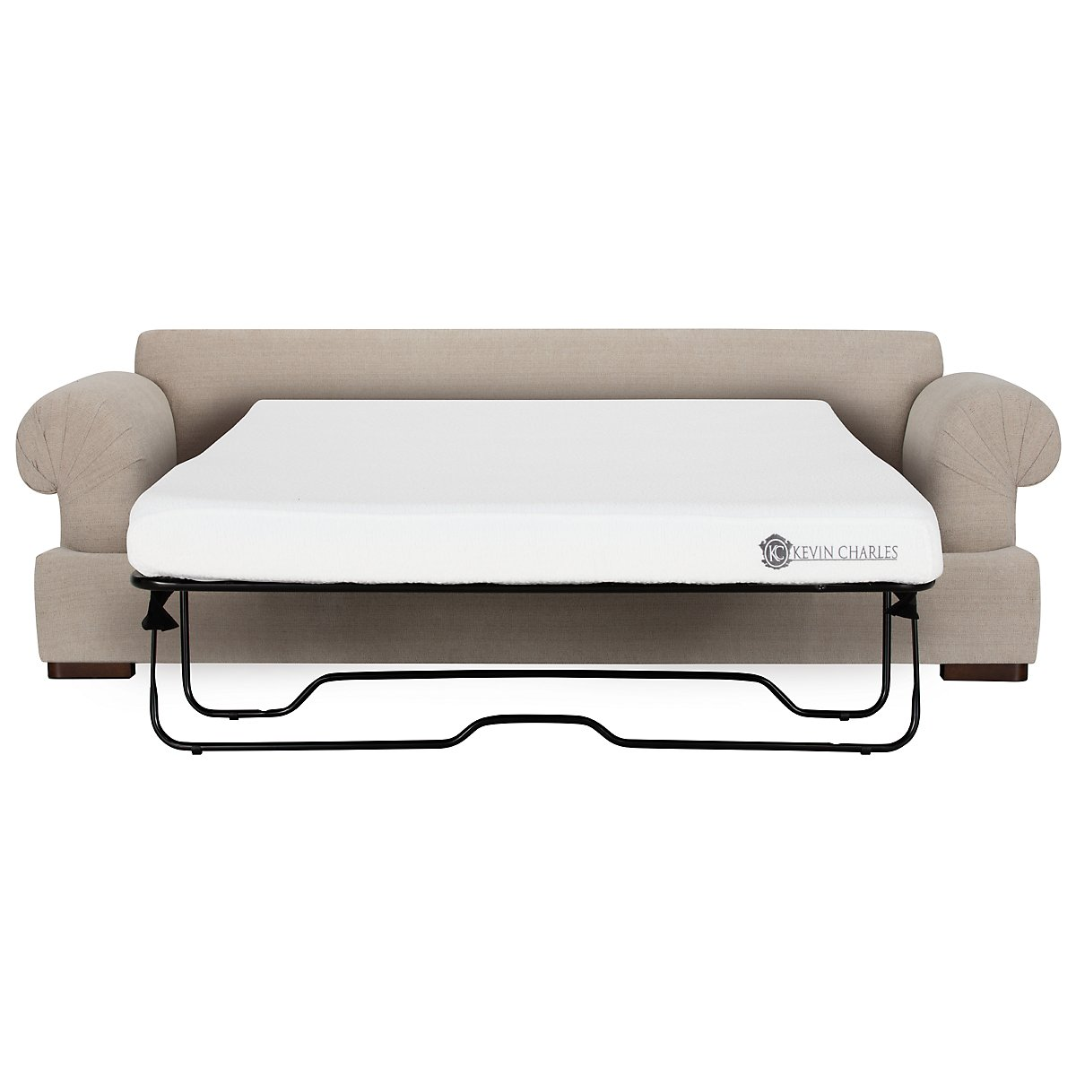 Belair Light Taupe Fabric Memory Foam Sleeper