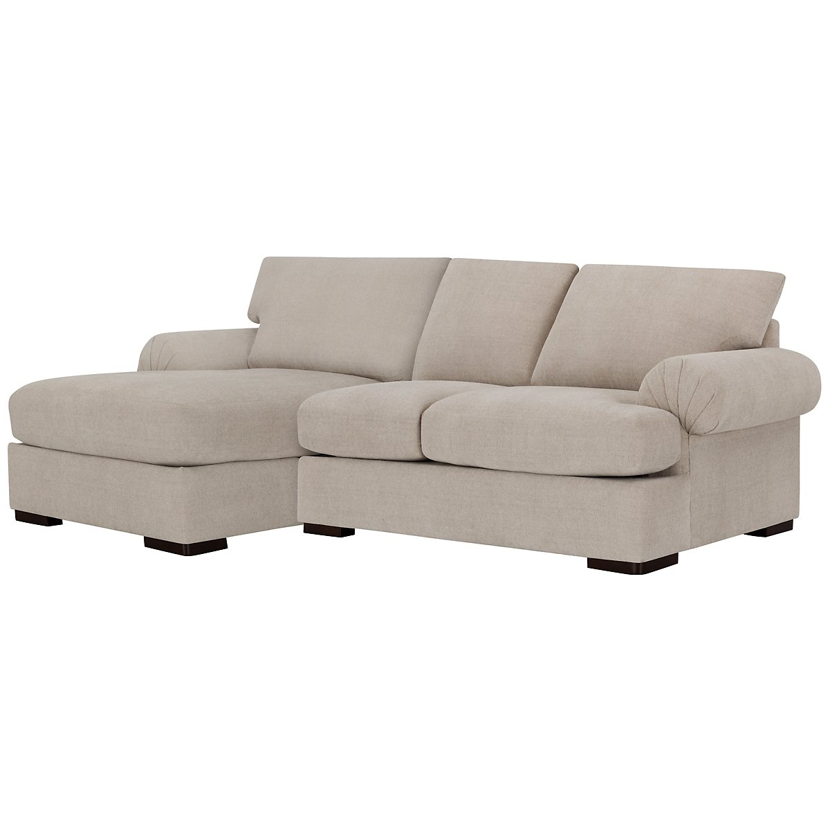 Belair Light Taupe Fabric Left Chaise Sectional