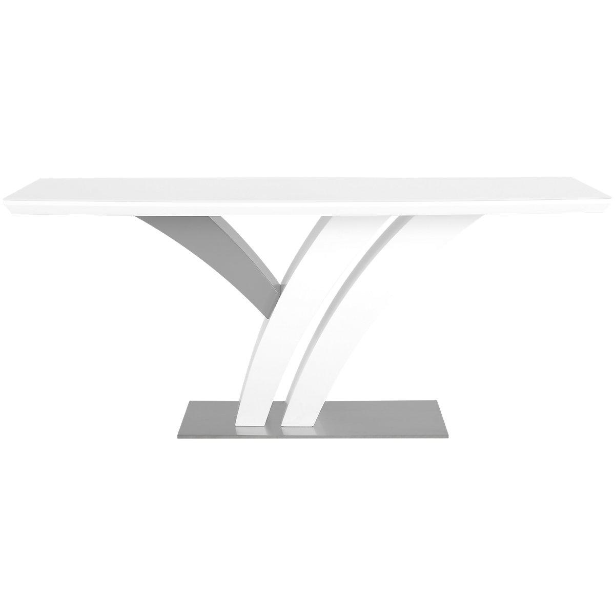 Lima White Rectangular Table
