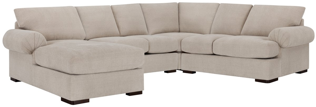 Belair Light Taupe Fabric Medium Left Chaise Sectional