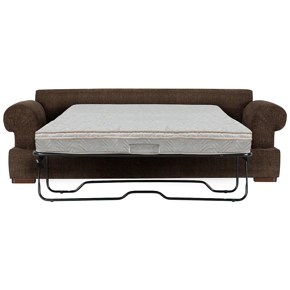 Belair Dark Brown Fabric Innerspring Sleeper