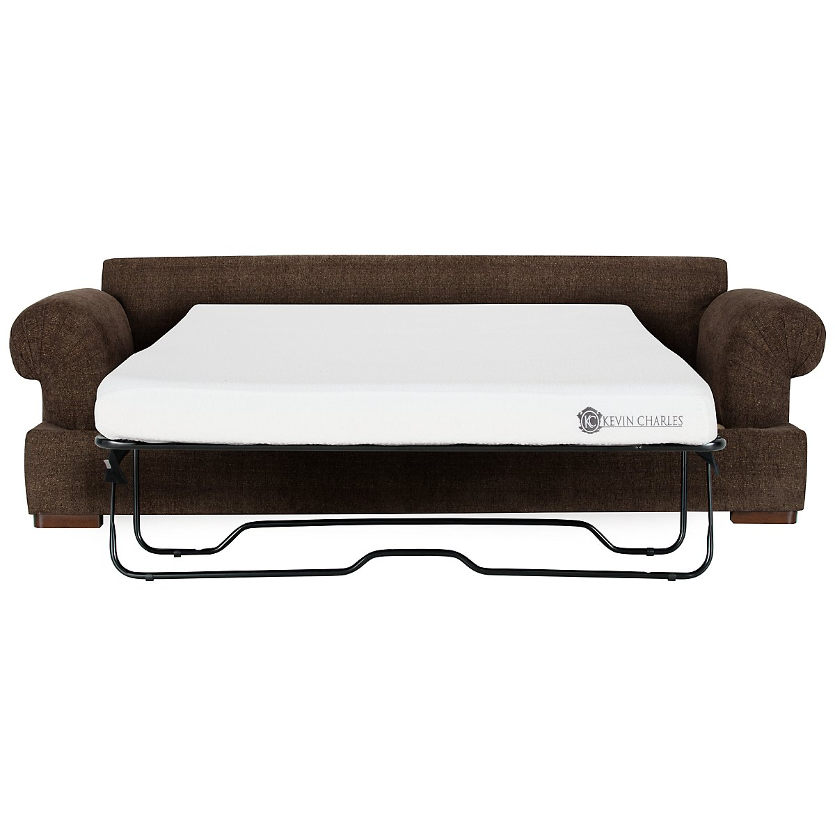 Belair Dark Brown Fabric Memory Foam Sleeper