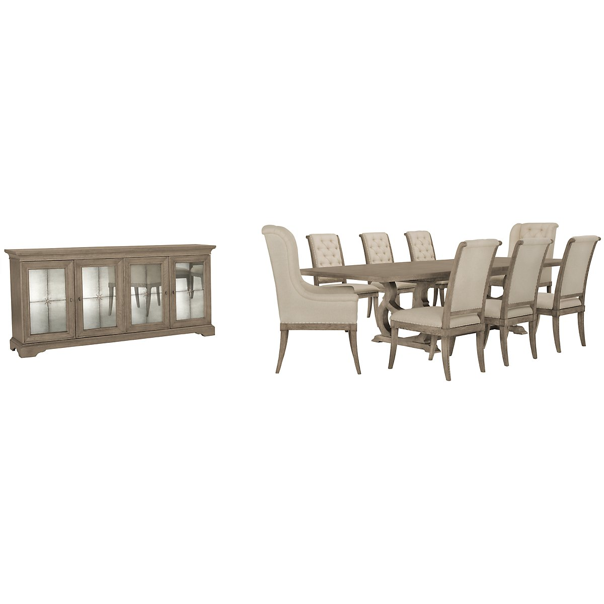 Marquesa Gray Rectangular Dining Room