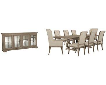 Marquesa Gray Rectangular Dining Room