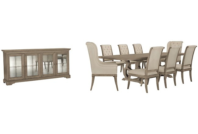 Marquesa Gray Wood Dining Room