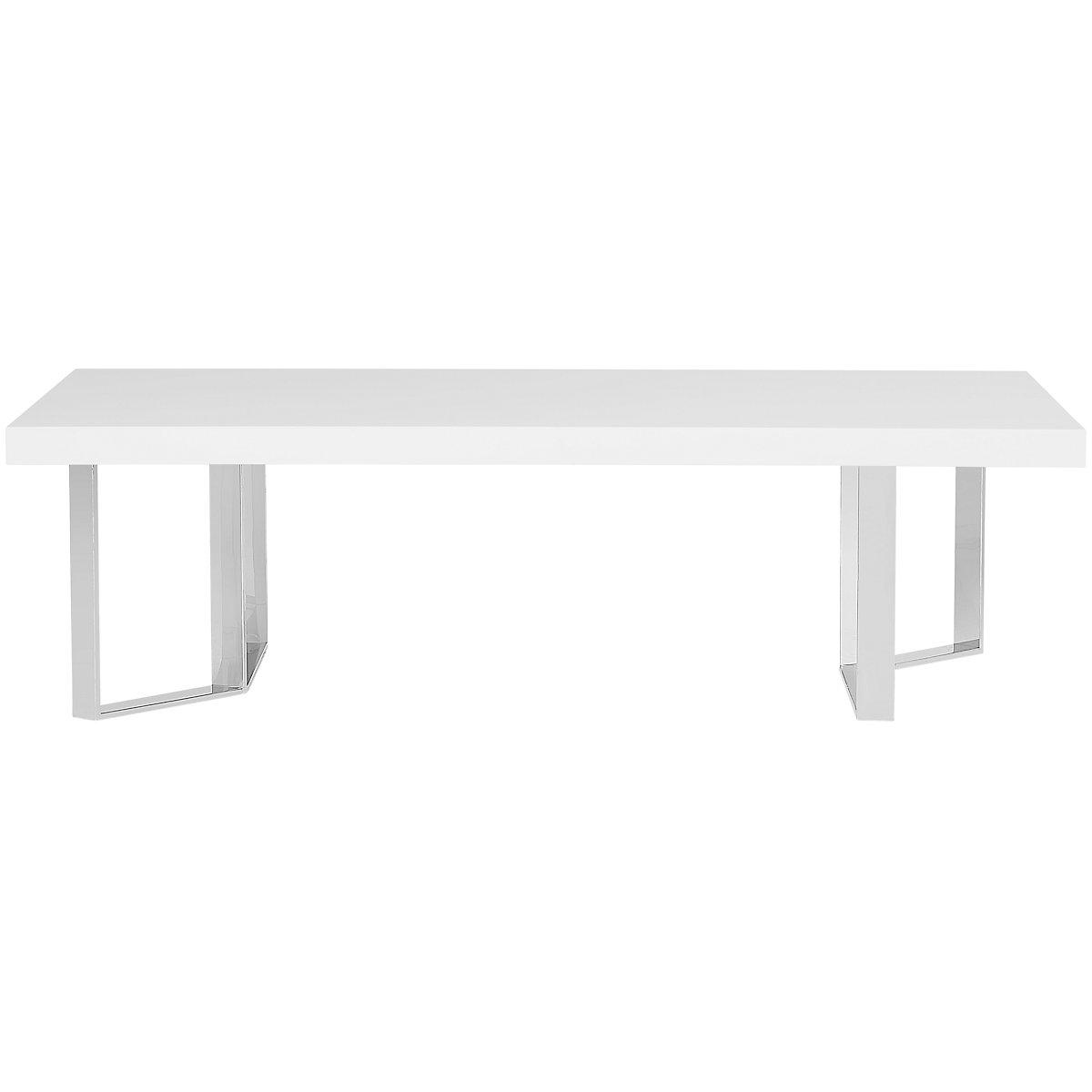 Axel White Wood Rectangular Coffee Table