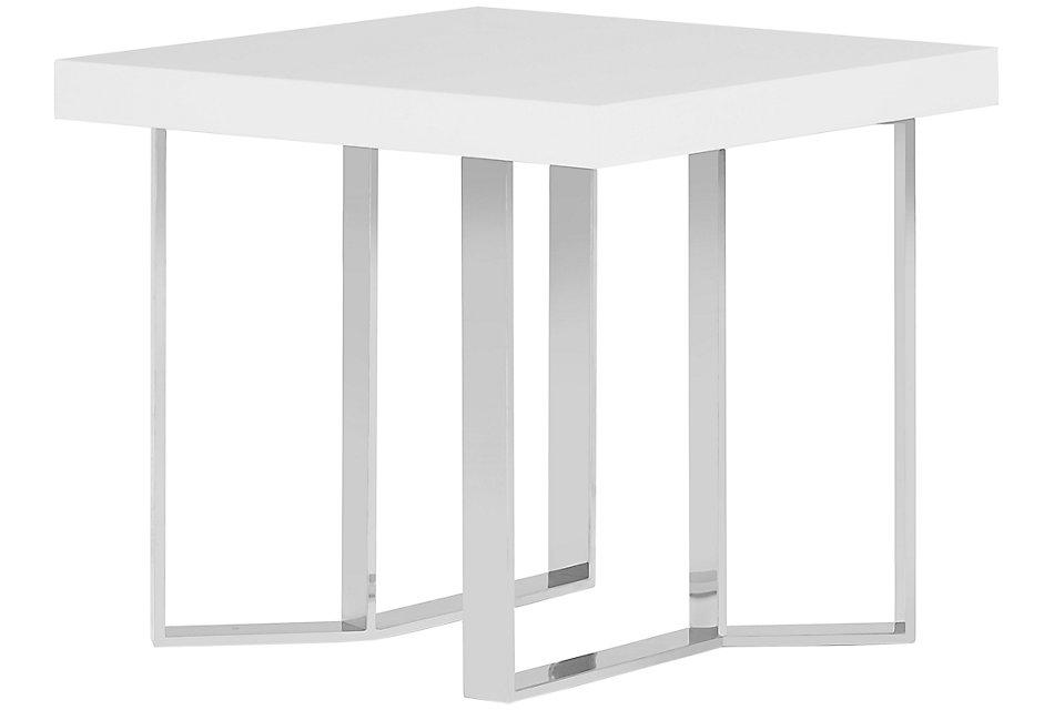 Axel White  End Table