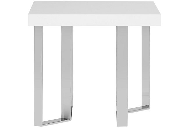 Axel White Wood End Table