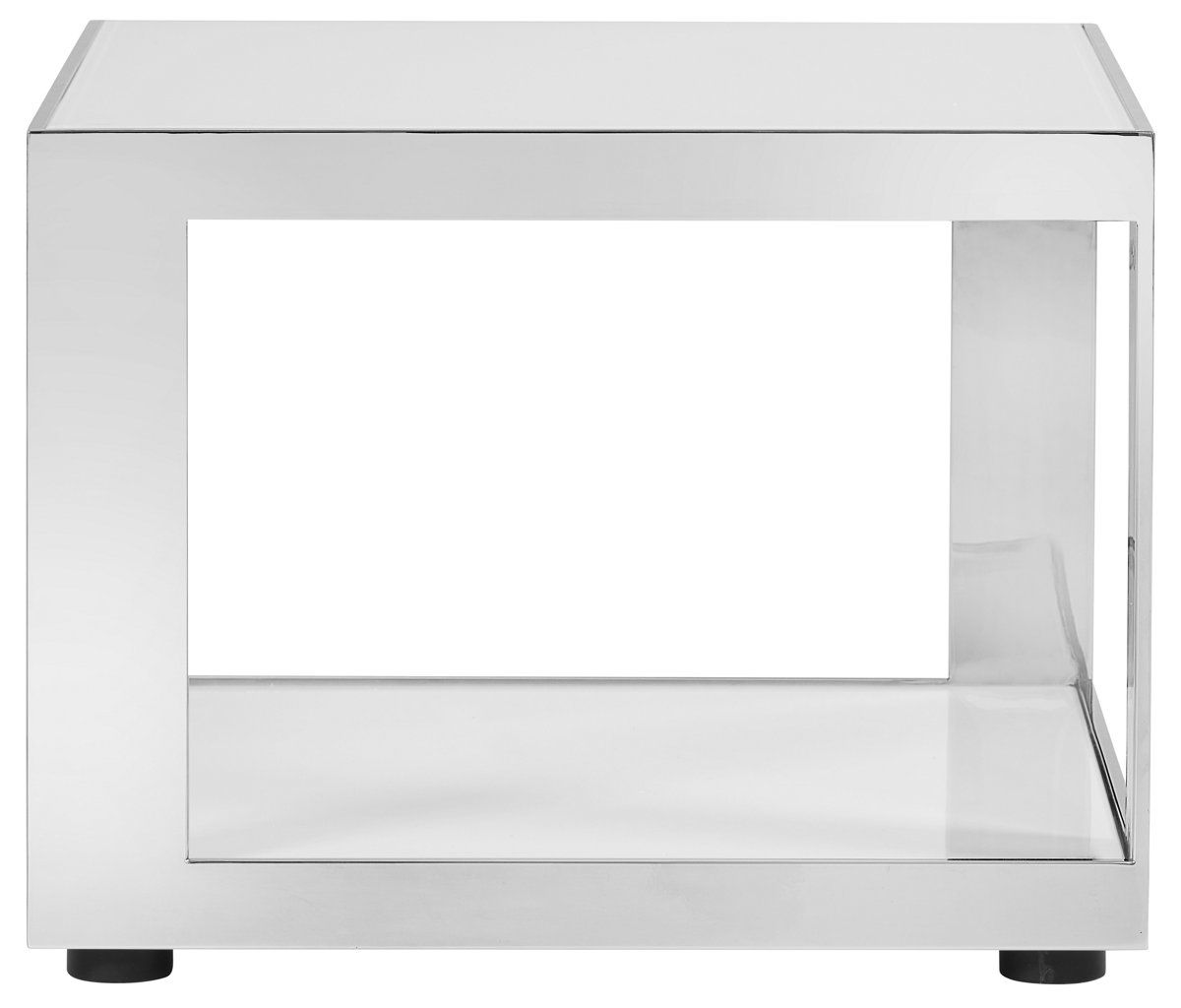 Harley White Metal End Table