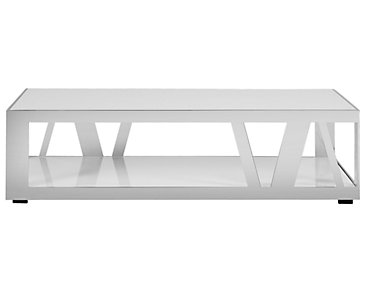 Harley White Rectangular Coffee Table