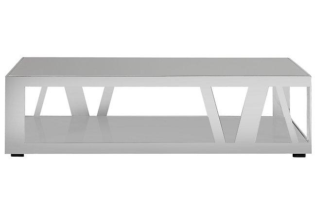 Harley Gray Metal Rectangular Coffee Table
