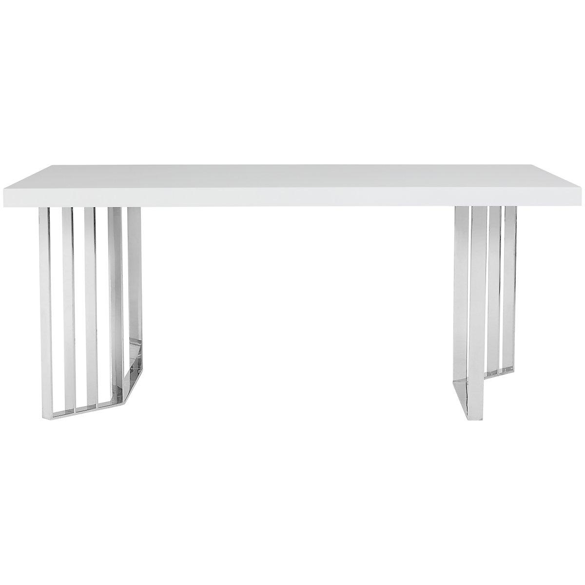 Axel White Wood Rectangular Table