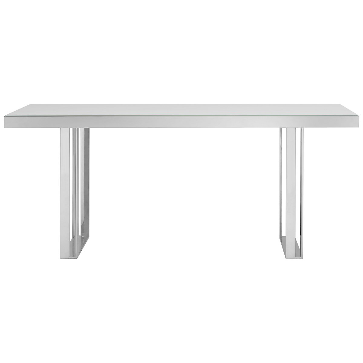 Harley White Glass Rectangular Table