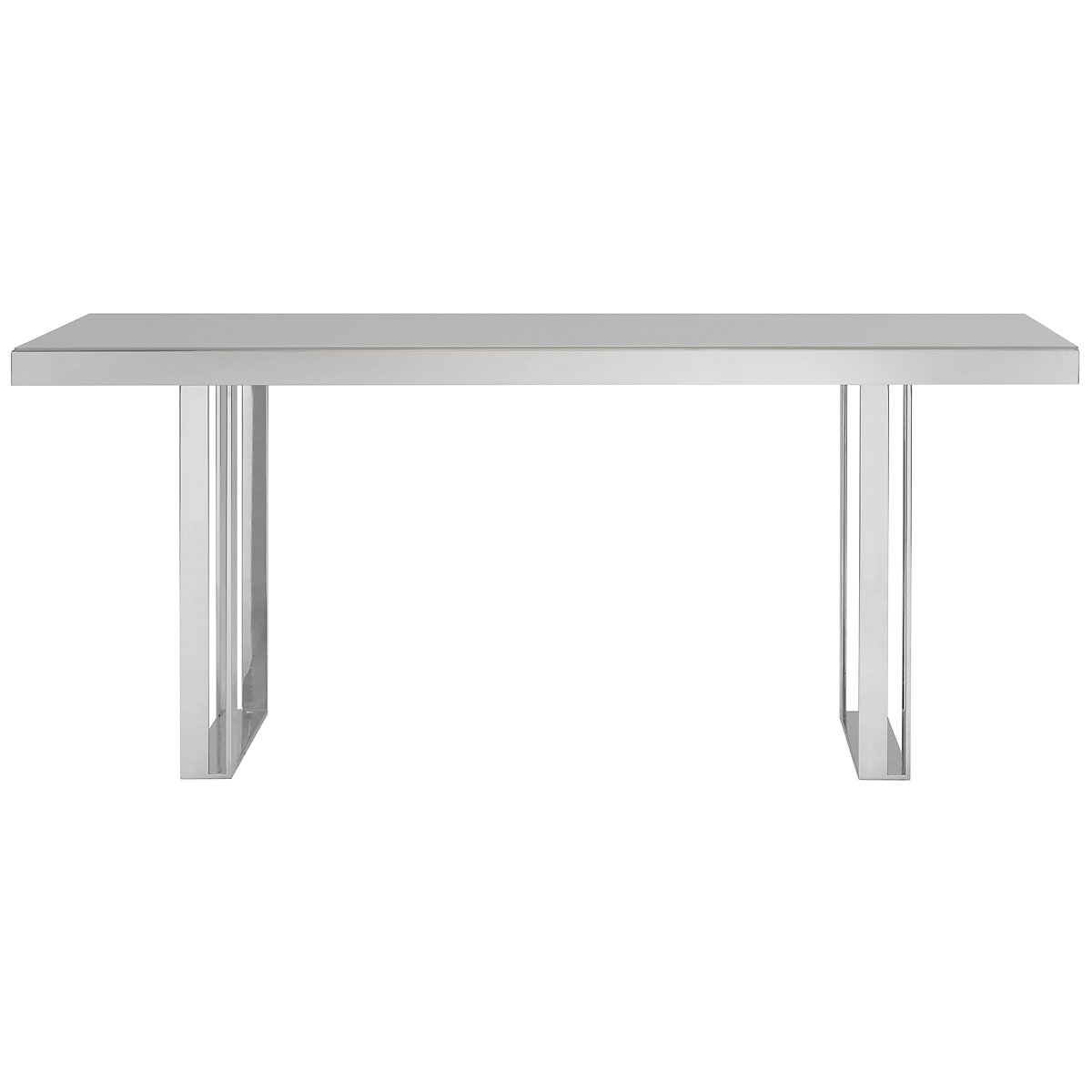 Harley Gray Glass Rectangular Table