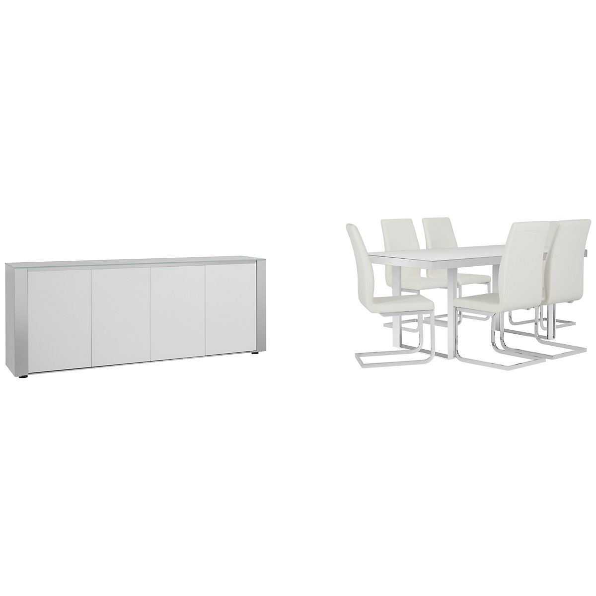 Harley White Wood Rect Dining Room