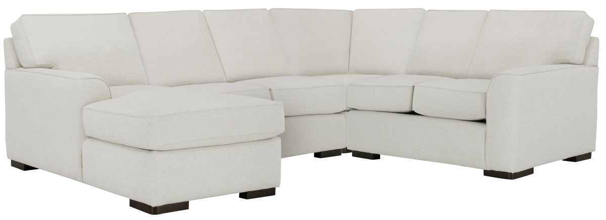 Austin White Fabric Medium Left Chaise Sectional