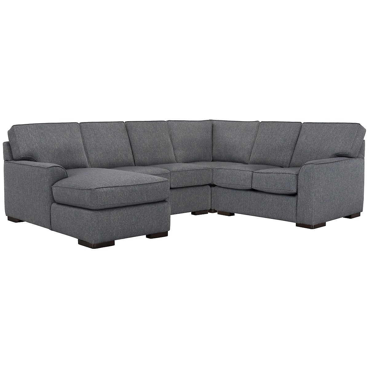 Austin Blue Fabric Medium Left Chaise Sectional