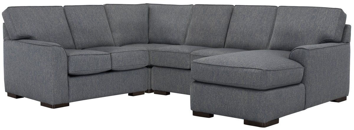 Austin Blue Fabric Medium Right Chaise Sectional