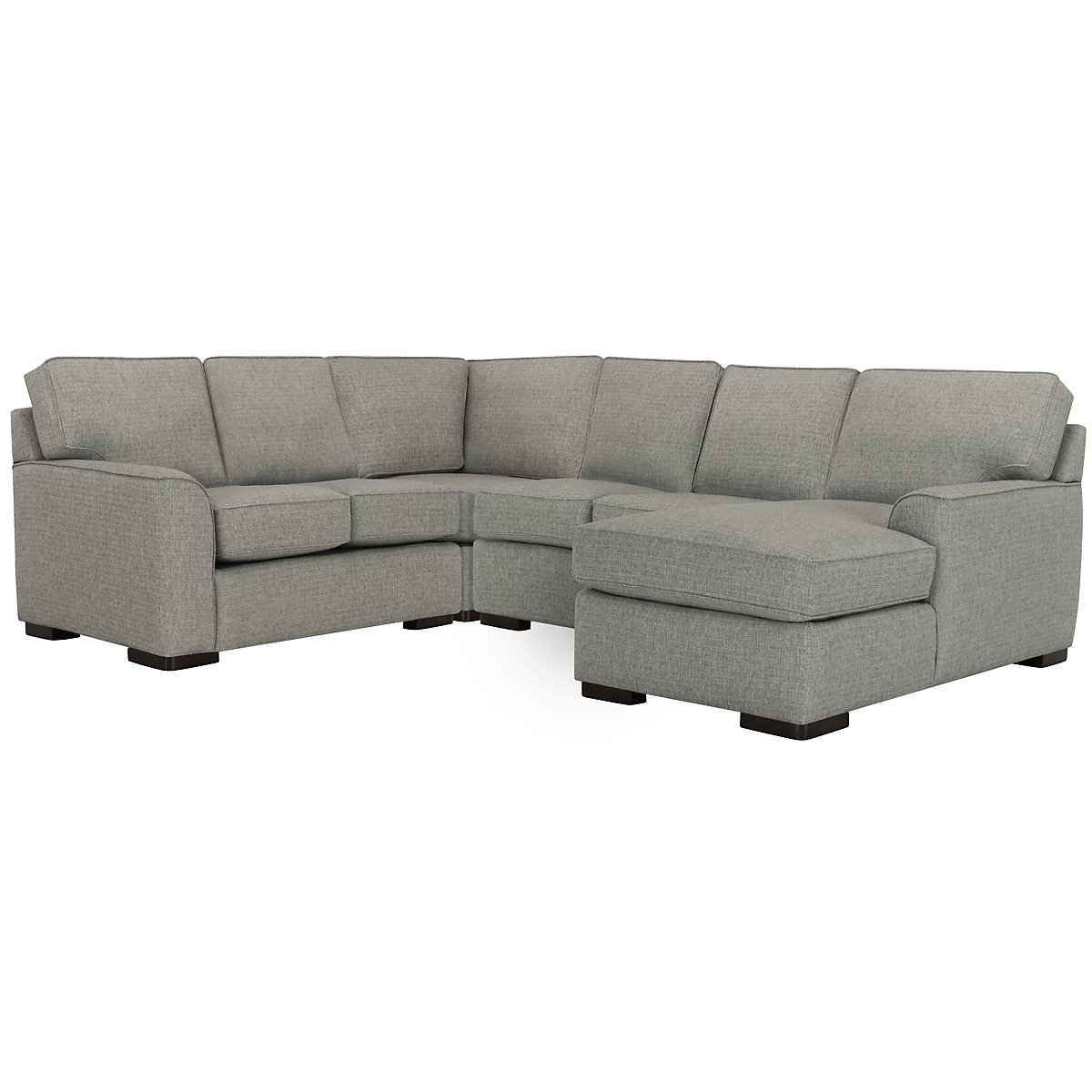 Austin Gray Fabric Medium Right Chaise Sectional