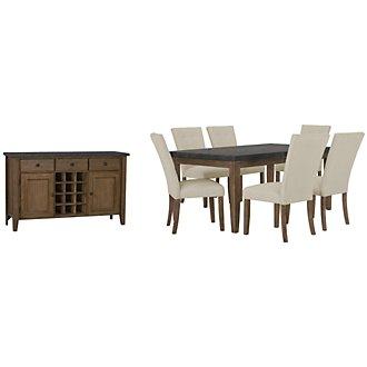 Emmett White Rectangular Dining Room