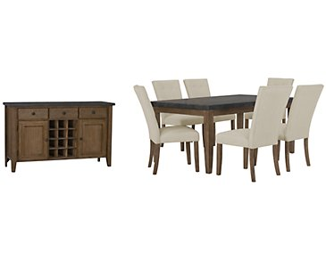 Emmett White Rectangular Dining Room