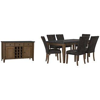 Emmett Gray Rectangular Dining Room