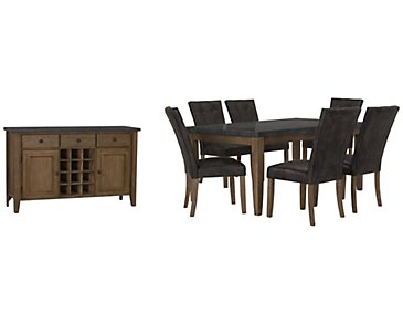 Emmett Gray Rectangular Dining Room