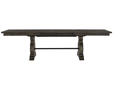 City Furniture Sonoma Gray Trestle Table Amp 4 Wood Chairs