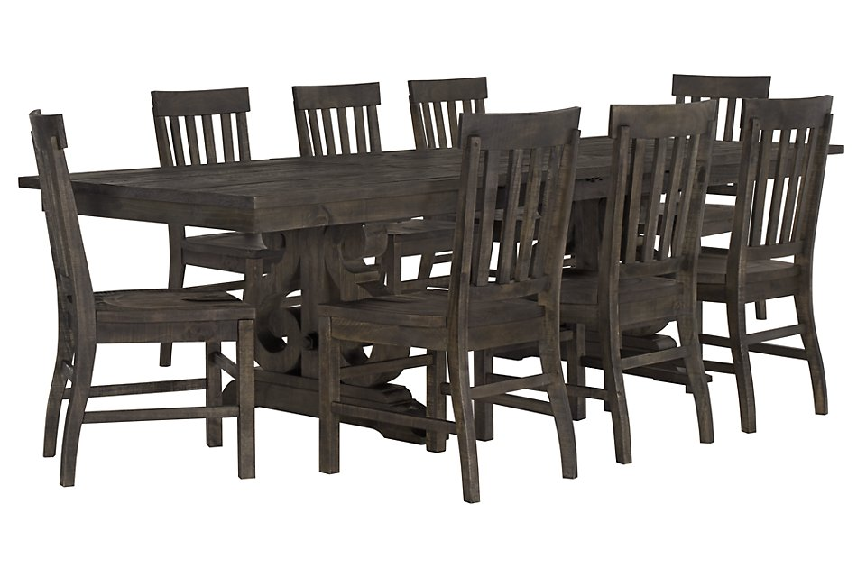 Sonoma DARK TONE TRESTLE Table & 4 Wood Chairs | Dining Room ...