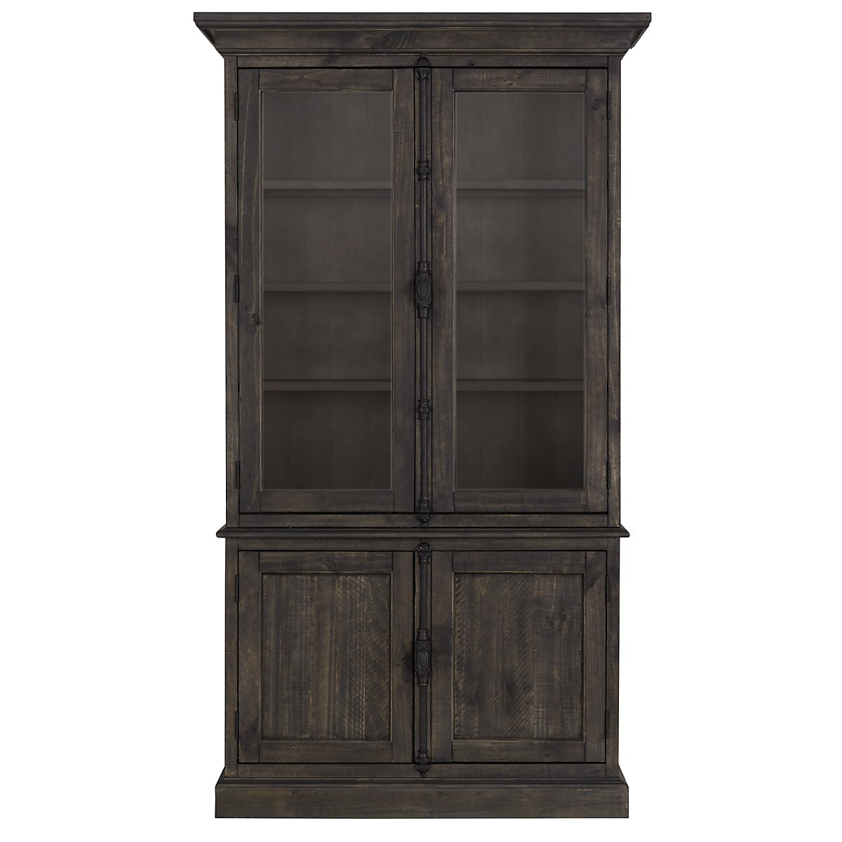 Sonoma Dark Tone Wood China Cabinet Dining Room Cabinets City Furniture