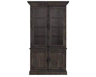 Sonoma Dark Tone China Cabinet