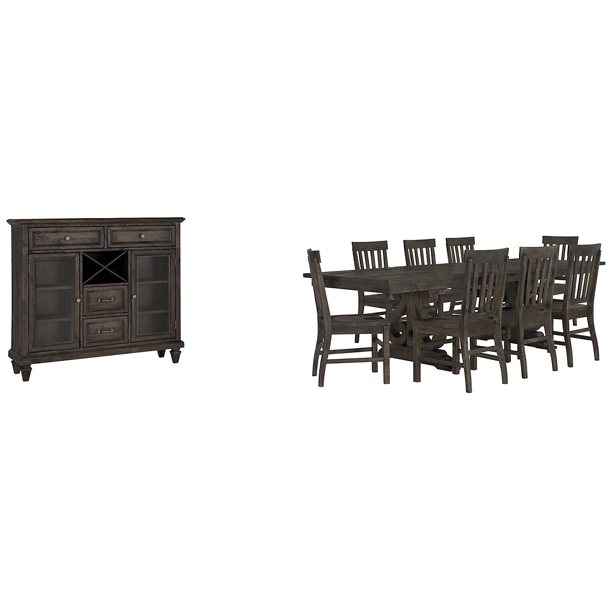 Sonoma Dark Tone Trestle Dining Room